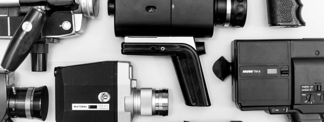 assorted camera video recorder lot on surface in grayscale photo vintage Youtube 影片 1/4 ~ 3/4 慢速播放(慢動作)與倍速快轉設定教學