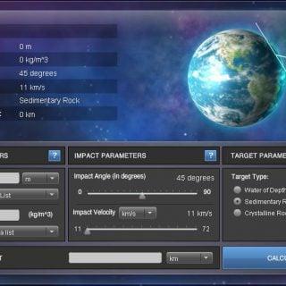 Planetary impact simulator of Purdue 01 普渡大學科研計畫 Impact: Earth! 小行星撞擊模擬程式