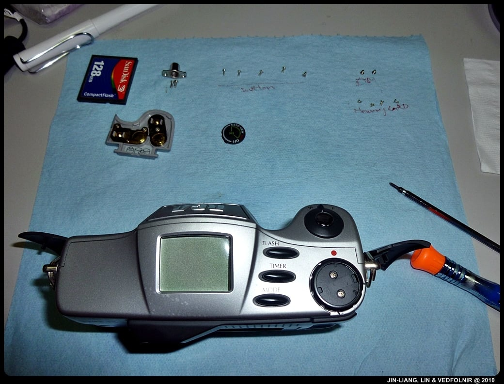 RCA Digital Camera CDS6300 05 拆解 RCA 數位照相機拆解紀錄|改裝紅外線相機