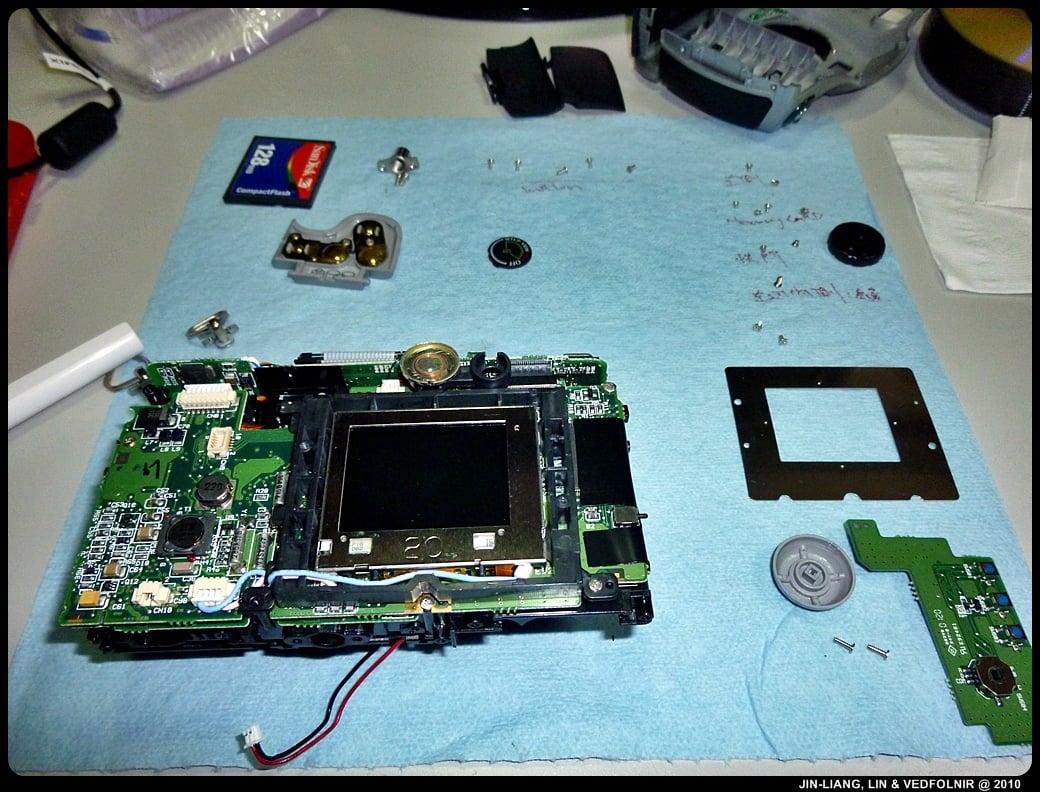 RCA Digital Camera CDS6300 11 拆解 RCA 數位照相機拆解紀錄|改裝紅外線相機