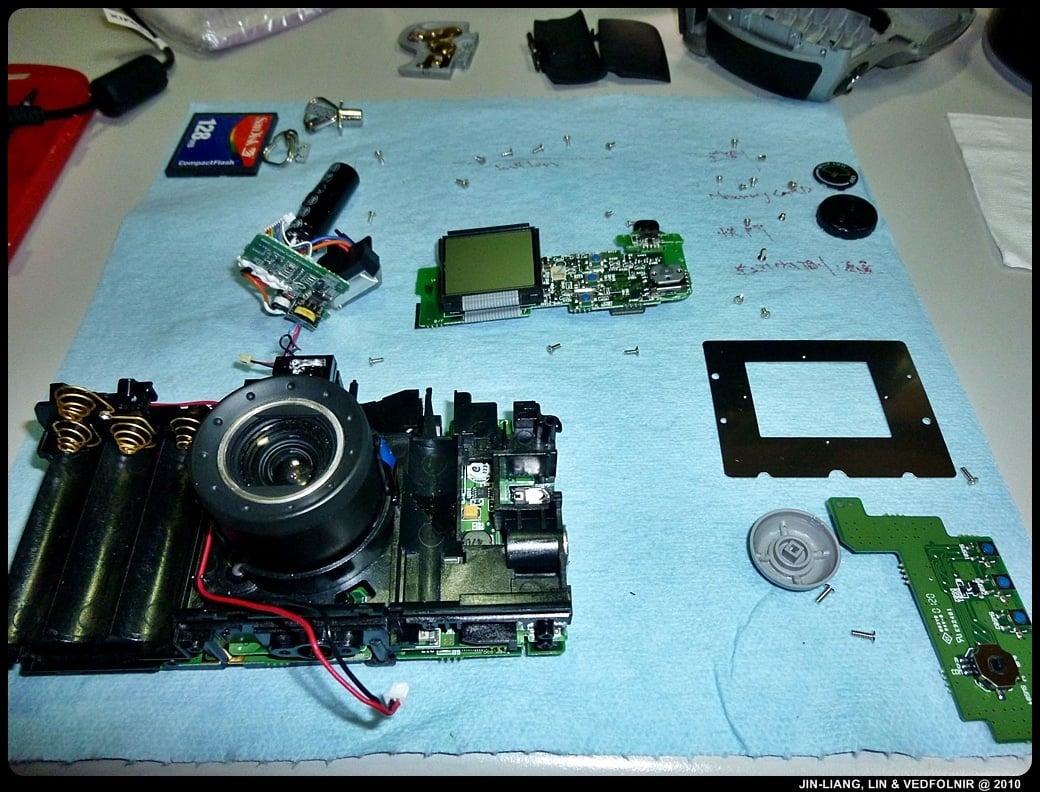 RCA Digital Camera CDS6300 12 拆解 RCA 數位照相機拆解紀錄|改裝紅外線相機