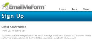 EmailMeForm 03 SignUP EmailMeForm/建立網頁版的快速發信及留言系統(電子表單)