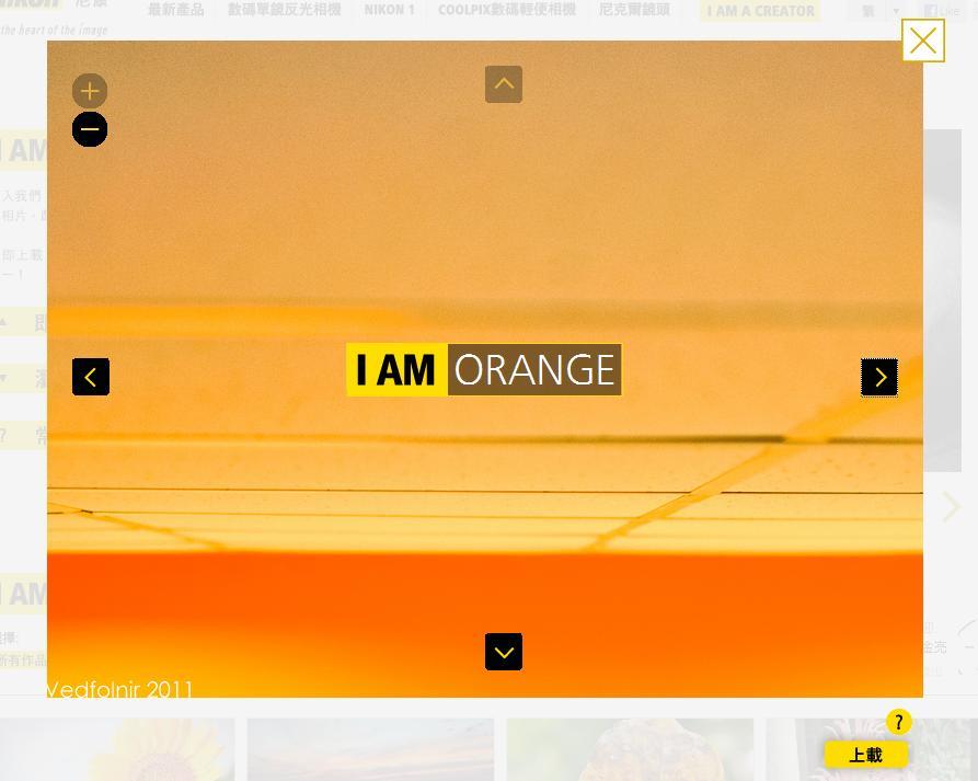 NIKON I AM ORANGE