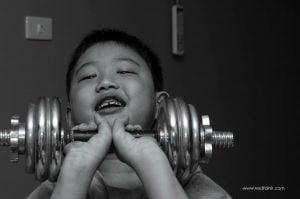 我的侄子(攝影/林金亮)。