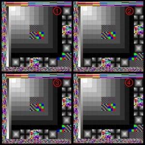 彩色盒子比較圖。