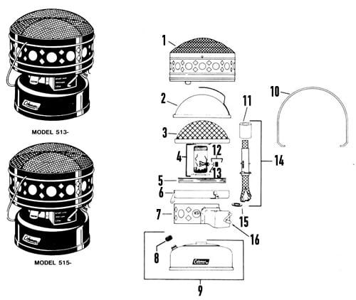 Coleman Catalytic Heater 515-700 CATALYTIC HEATER Patent