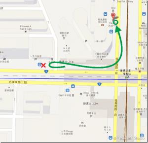 九份-金瓜石-台北市-公車站牌-1062 號公車 - 新舊站牌相對關係圖