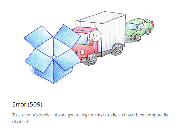 dropbox-error-509-too-much-traffic