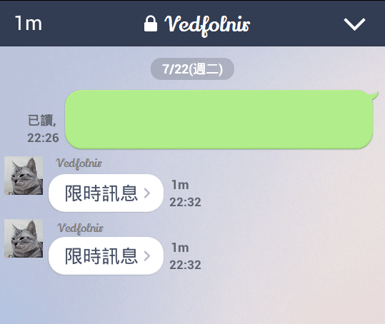 Line-Messenger-Chat-Secret-Security-Safe-Function-限時聊天-聊天畫面-Vedfolnir-4