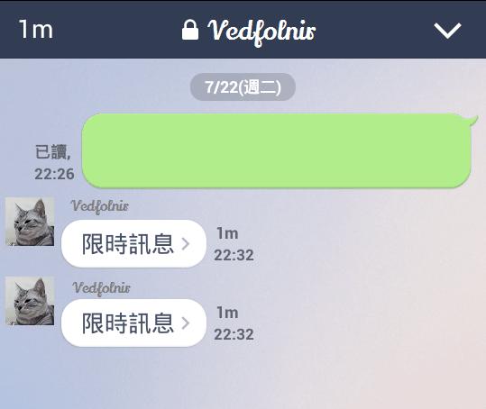 Line-Messenger-Chat-Secret-Security-Safe-Function-限時聊天-聊天畫面-Vedfolnir-4