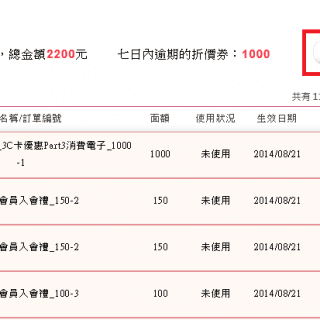 UDN-Shopping-折價券-折價券明細-查詢促銷活動-Vedfolnir