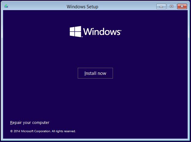 Windows 10 啟動安裝。