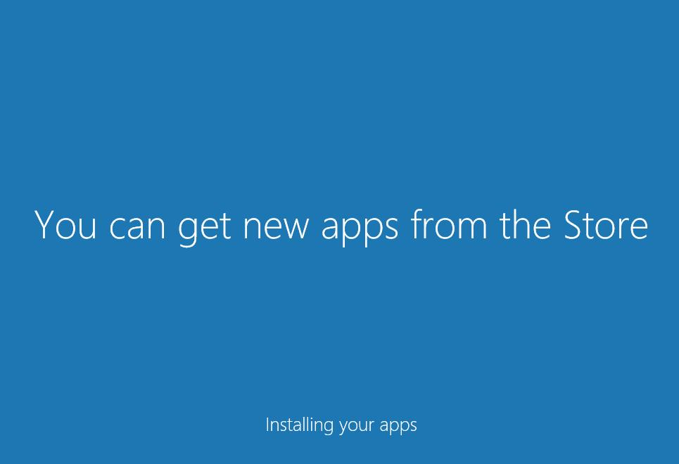 Windows 10 進行系統設定中。