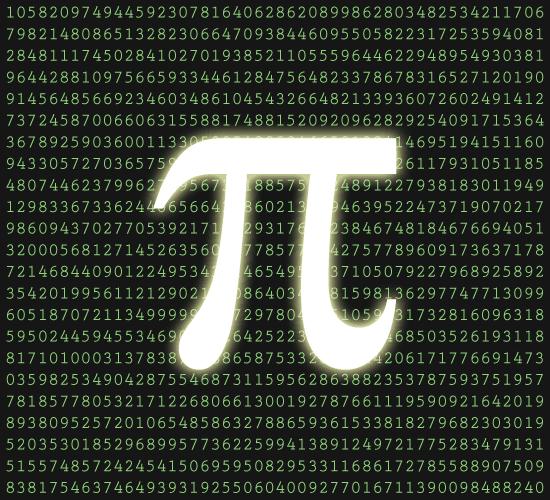 圓周率(祖率)Pi π 小數點
