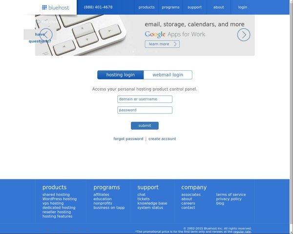 Fake-Bluehost-Login-Web-Page-Screen