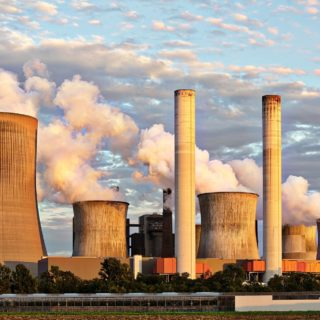 air pollution chimney clouds Nuclear power plant