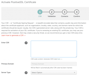 Namecheap-Activate-PositiveSSL-Certificate-CSR