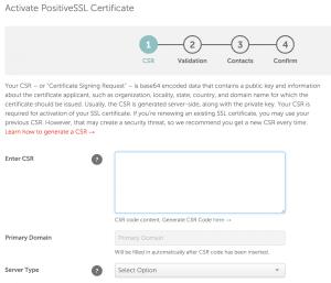 Namecheap-Activate-PositiveSSL-Certificate-CSR