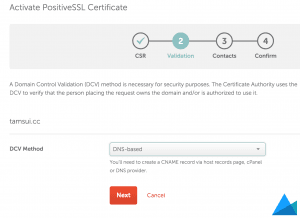 Namecheap-Activate-PositiveSSL-Certificate-Validation