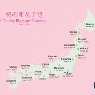2016-日本-櫻花-開花時間-桜の開花予想-The Bloom of Cherry Blossoms