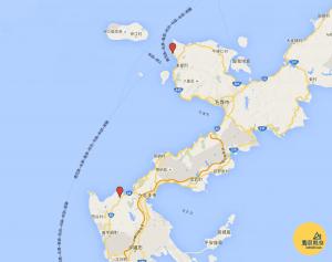 Okinawa-Japan-Map-日本-沖繩-琉球村-琉宮城蝴蝶園-地圖