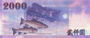 新台幣 2000 元(背面)