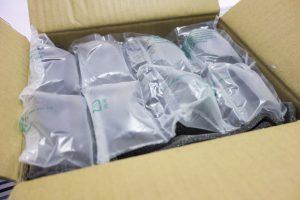 寄回來的箱子裡有著良好保護。