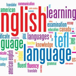 English Language Keyword Tag Words Cloud Learning