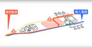 桃園機場航站北路改道路線規劃圖。
