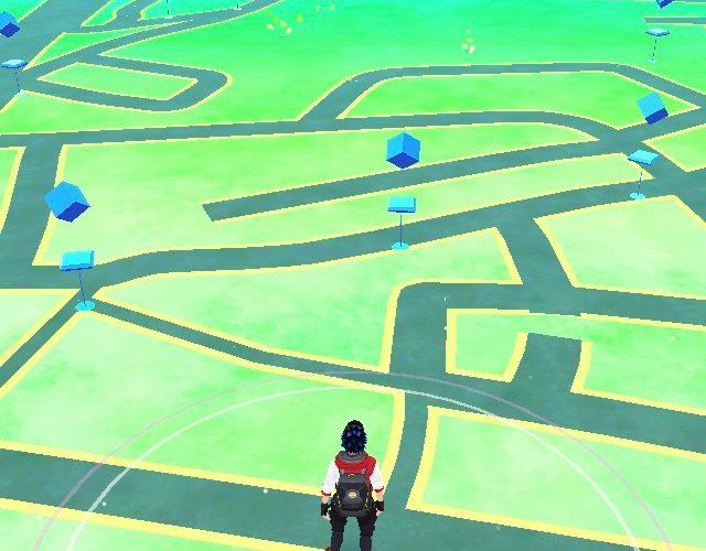Pokemon Go 遊戲主畫面。