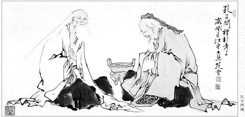 道德經 孔子問道老子圖 孔子問道老子後三日不語 直言過去30年的迷霧茅塞頓開