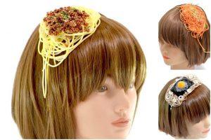 日本流行 肉醬意大利麵...頭飾 女高中生正夯 Japan 日本 肉醬意大利麵 頭飾 01