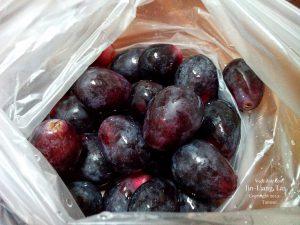 全聯買來的葡萄,這樣一袋差不多 85 元。