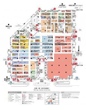 世貿展覽一館一樓平面圖。