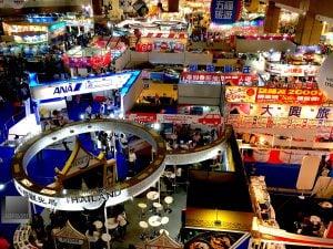 ITF 國際旅展展場(攝影/林金亮)。