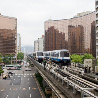 Taipei MRT Elevated Rail 20090330 向柯文哲市長致歉懺悔 我就是窮才住外圍 請優惠捷運月票1600吧