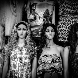 black and white dolls black white mannequine 20161221 王炳忠、侯漢廷被調查局以國法逮補拘押事件評論