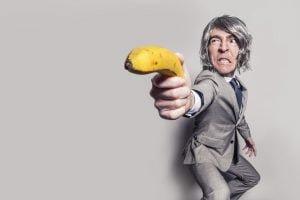 Man Suit and Yellow Banana