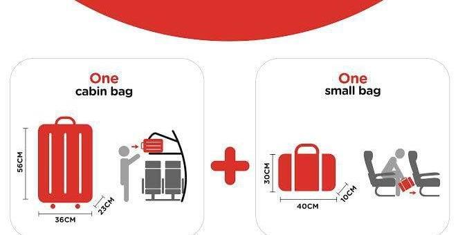 AirAsia Cabin Baggage Allowance Rules AirAsia 亞洲航空手提行李規定須知 尺寸、件數、免費托運(廉價航空)