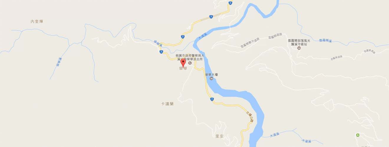 Taoyuan City Fuxing District Ronghua map 桃園北橫公路邊坡施工至14日止 每小時僅放行10分鐘通行