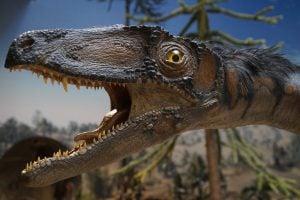 The Natural History Museum brown dinosaur beside green tree 英國倫敦 10 個必須去一次的旅遊聖地 十大熱門景點大公開