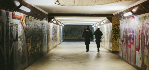 people police walking on subway with lights turned on night train 南部豪雨成災 行政院拍板水災受災戶補助20000元救助金