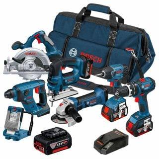 BOSCH Li Battery Tools Family 在車庫做業餘木工,需要準備的基本手工具與電動工具列表