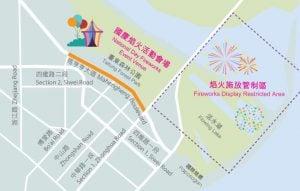 2017 national day fireworks in taitung Event venue map 民國106年(2017)臺東雙十國慶焰火煙花晚會/旅遊情報與交通資訊