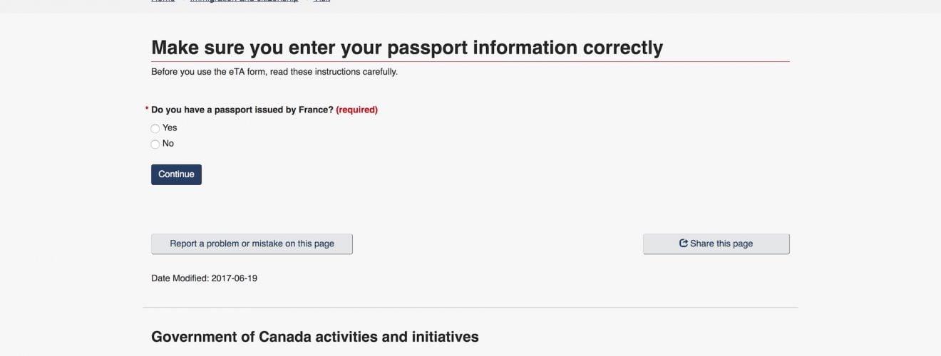 加拿大旅遊:電子旅行授權簽證(Canada eTA)入境與申請說明 Canada eTA Electronic Travel Authorization Entry Apply