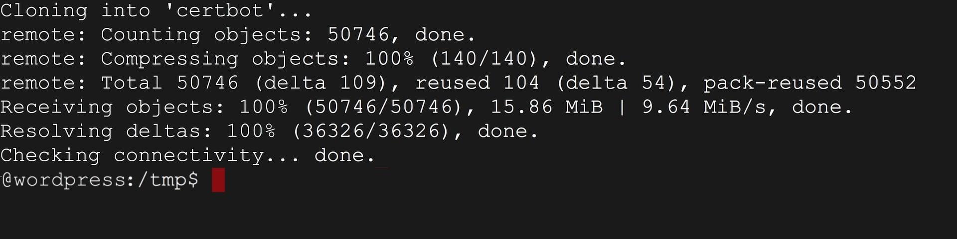 linux git certbot 使用 Certbot 安裝 Let's Encrypt 的免費 SSL 憑證與證書密鑰到 WEB 網頁服務器(WordPress 支援)