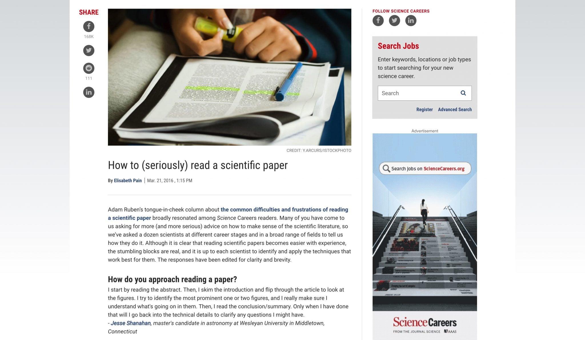 Science Articel Read a scientific paper 20180301 將喜歡的文章「寄」給亞馬遜 Amazon Kindle 電子閱讀器的使用教學