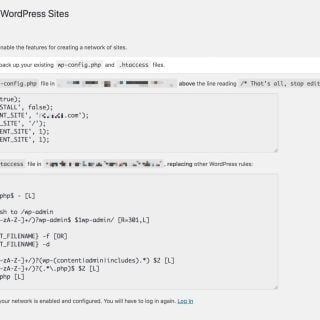 WordPress Multisite Enabling the Network wpconfig htaccess WordPress MU 架設子網站(Multisite)的多站點網路操作與教學步驟
