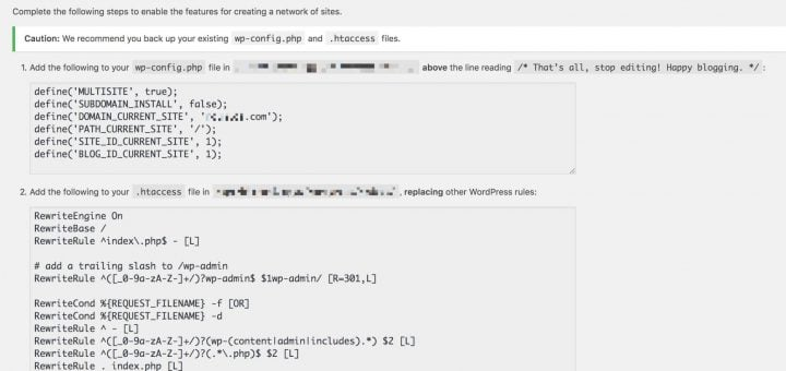 WordPress Multisite Enabling the Network wpconfig htaccess WordPress MU 架設子網站(Multisite)的多站點網路操作與教學步驟
