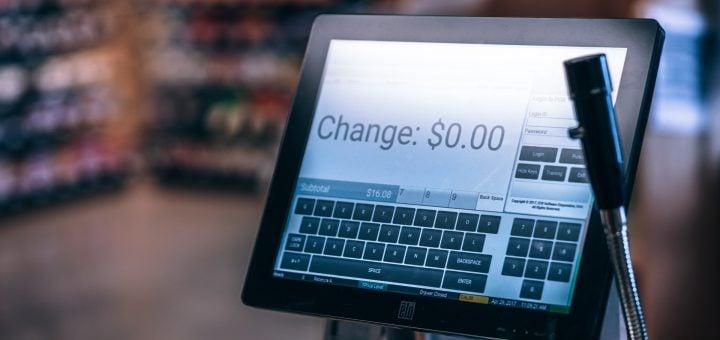 store shop payment screen monitor change counter 五金行18禁對話/水電工程的笑話 🈲️